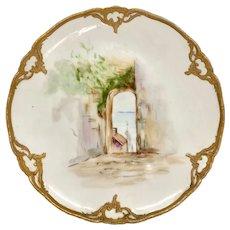 Antique German KPM Porcelain Scenic Plate