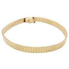 Vintage Italian 14K Yellow Gold Articulated Bracelet