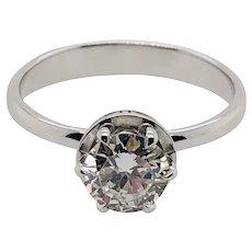 Damiani MINOU 18K White Gold Engagement Ring