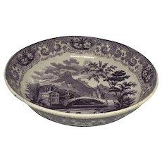 19th C. English Staffordshire Round Bowl
