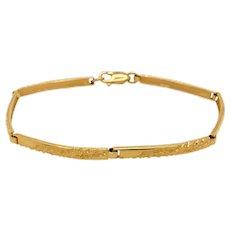 Vintage Swedish 18K Gold Link Bracelet