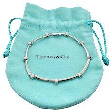 Tiffany Platinum & Diamond Link Bracelet