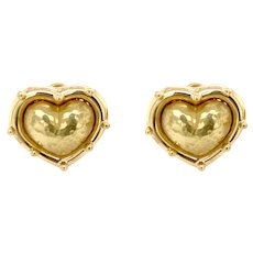 Vintage Tiffany & Co. Paloma Picasso Hammered Heart Earrings