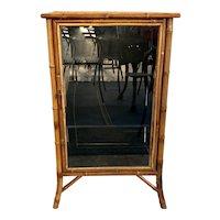 Nineteenth Century Bamboo Glass Door Cabinet