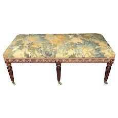English Oak Classical Period Bench Circa 1820