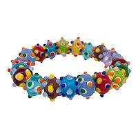 Italian Blown Glass Stretchy Bracelet