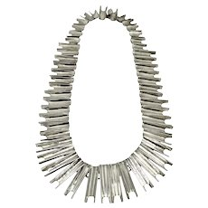 Articulated Vintage Mexican Sterling Silver Link Necklace