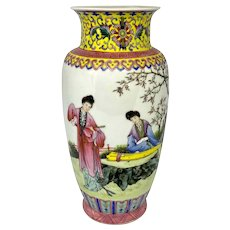 Chinese Republic Period Decorative Scenic Vase