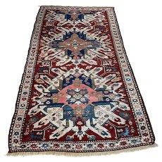 Antique Caucasian Eagle Kazak Carpet