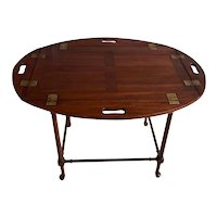 19th Century English Mahogany Butlers Tray Table