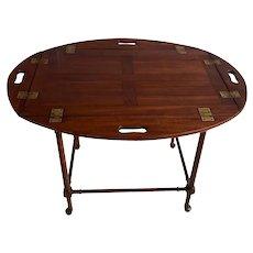 19th Century English Mahogany Butlers Tray Table
