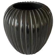 Miana Pablita Santa Clara Black Melon Vase