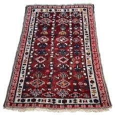 Small Antique Persian Carpet / Rug c. 1900