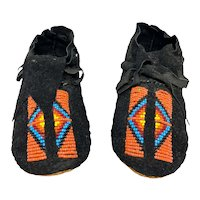 Vintage Native American Beaded Child's Moccasins