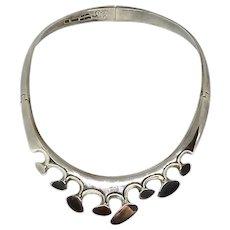 Vintage Designer Mexican Sterling Choker Necklace
