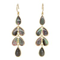 18K Gold Ippolita Rock Candy Teardrop Cascade Earrings
