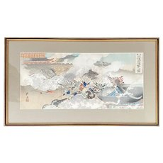 Sino – Japanese War Woodblock Print by Ogata Gekko