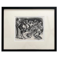 "Adolf Dehn, Lithograph 1932 ""Harlem Night"""