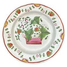 English Soft Paste Strawberry Plate c. 1800