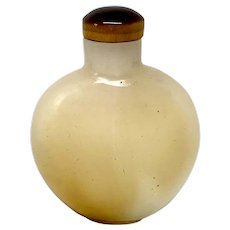 Chinese Late 19th C. Agate Snuff Bottle