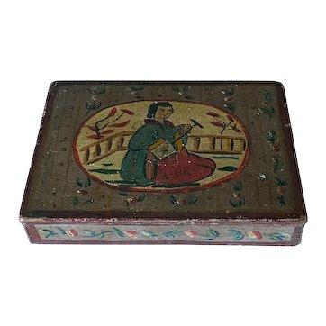 19th C. Continental Painted Box