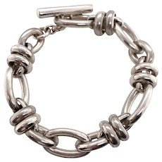 Estate Pomellato 67 Sterling Link Bracelet with Pouch