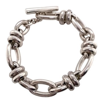 Estate Pomellato 67 Sterling Link Bracelet with Pouch