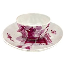18th C. German Porcelain Cup and Saucer