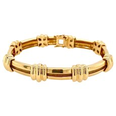 """Vintage"" 1995 Tiffany & Co. 18K Gold Atlas Bracelet"