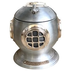 RARE Penterton 'Livorno 1894' Scuba Diving Helmet Ice Bucket Made in Italy