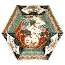 Japanese Meiji Period Hexagonal Imari Porcelain Plate