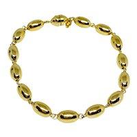 14K Gold Italian Florentine Link Bracelet With Magnetic Clasp