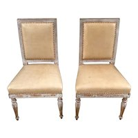 Pair 18th C. French Directoire Period Side Chairs