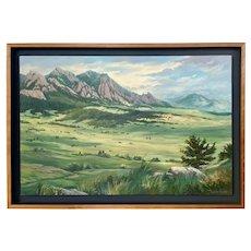 Mountain Landscape Oil on Canvas S. Kristen Olson