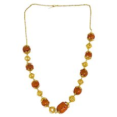 Victorian 22K Gold Coral Bead Necklace