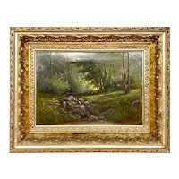 Charles Rising Landscape Painting Oil on Canvas