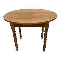 French Provincial Walnut Oval Table 19th C.