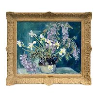 Rachel Hartley Oil on Canvas Painting Floral Still Life