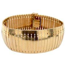 Vintage Italian Aurafin Wide Articulated Link Bracelet