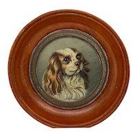 English Miniature Cavalier King Charles Spaniel Portrait