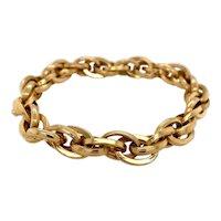 18K Gold Link Italian Charm Bracelet