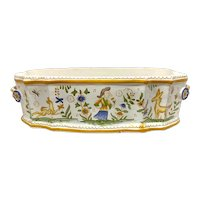 French 19th C. Faience Pottery Jardinaire