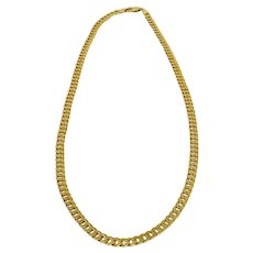 Italian 14K Gold 18″ Curb Link Chain Necklace