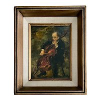 Ron Blumberg, Oil on Panel of Cello Player