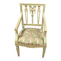 18th Century Italian Gilt & Painted Armchair