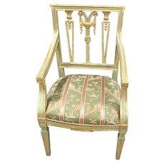 18th Century Italian Gilt & Painted Armchair