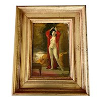 American Mid Century Portrait Painting Nude of a Woman