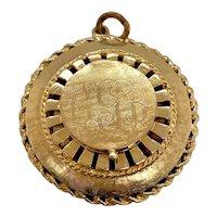 Vintage Large 14K Gold Locket Charm