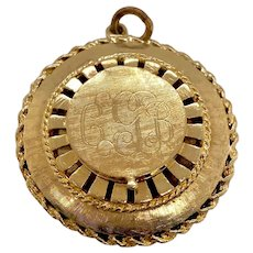 Vintage Large 14K Gold Locket Charm