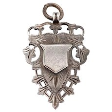Birmingham Sterling Antique Pendant With Shield 1902